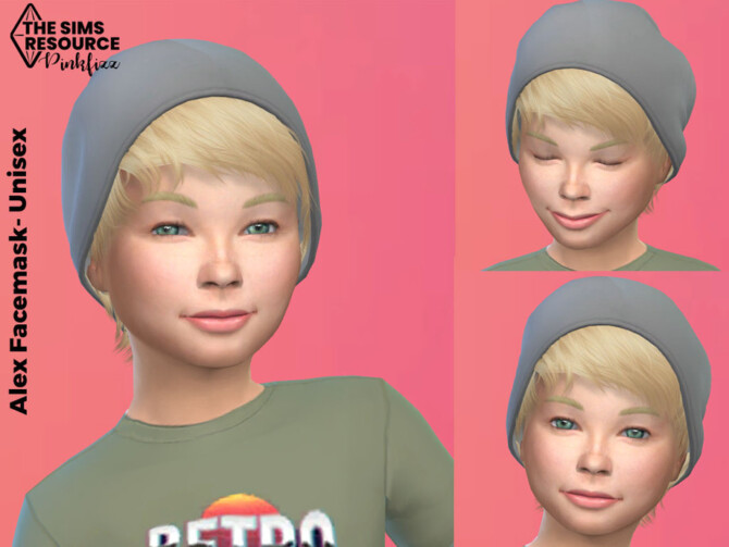 Sims 4 Alex Child Facemask by Pinkfizzzzz at TSR