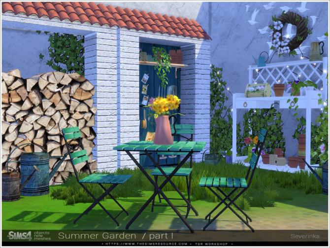 Sims 4 Summer garden part I by Severinka at TSR