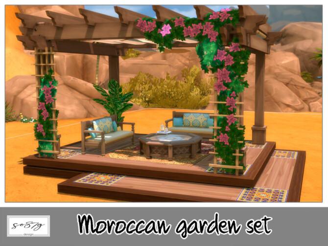 Sims 4 Moroccan garden set by so87g at TSR