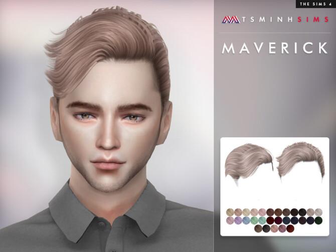 Sims 4 Hair Maverick by TsminhSims at TSR