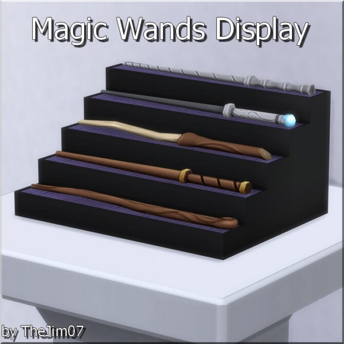 Sims 4 Magic Wands Display by TheJim07 at Mod The Sims 4