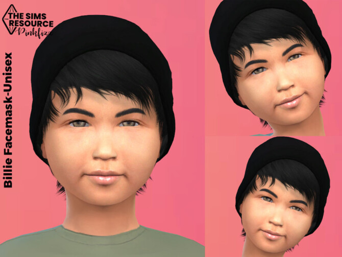 Sims 4 Billie Child Facemask by Pinkfizzzzz at TSR