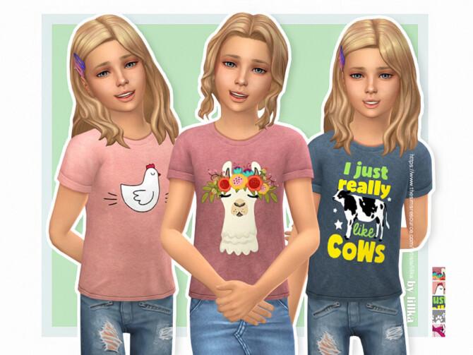 Sims 4 T Shirt Collection GP18 by lillka at TSR