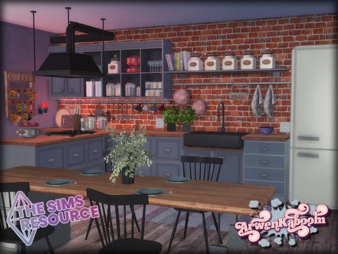 Sims 4 Elewelds Kitchen by ArwenKaboom at TSR