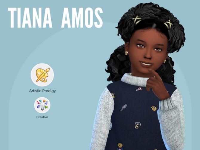 Sims 4 Tiana Amos by Mini Simmer at TSR