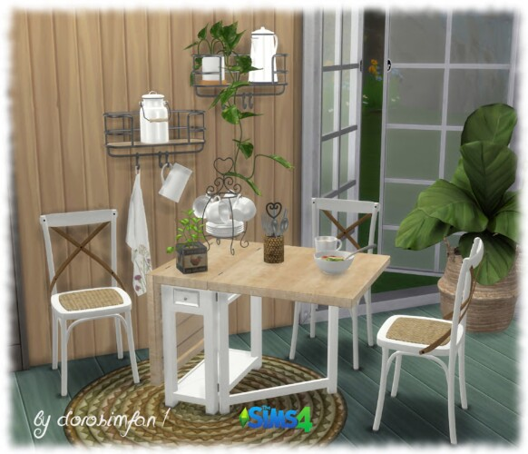 Tiny Living Dining Room Sims 4