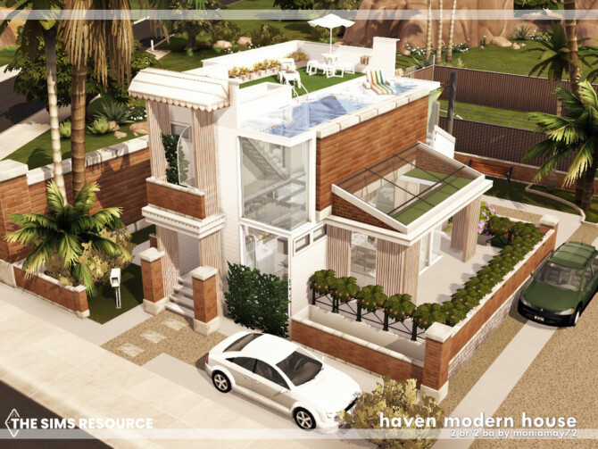 Sims 4 Haven Modern House by Moniamay72 at TSR