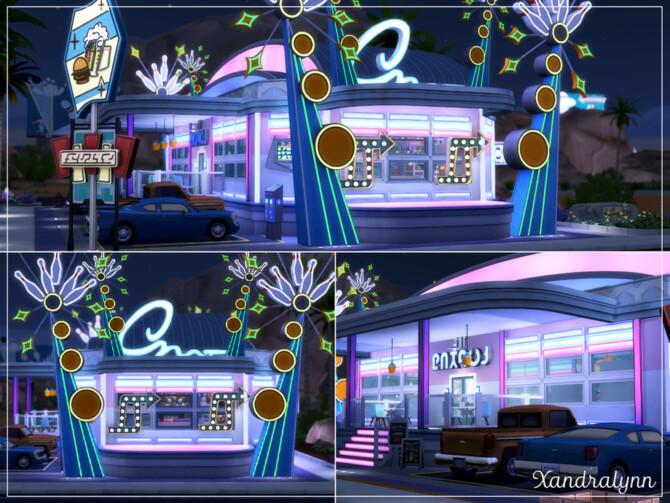 Sims 4 Retro Bowling Diner by Xandralynn at TSR