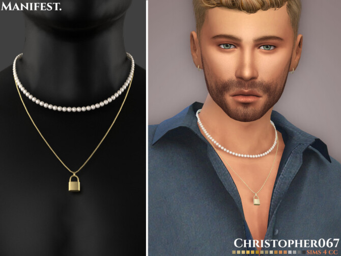 Sims 4 Manifest Necklace Male by Christopher067 at TSR