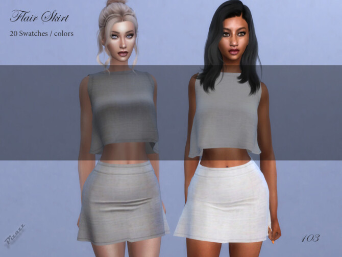 Sims 4 Flair Skirt by pizazz at TSR