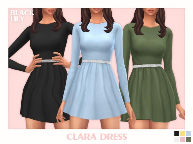 Sims 4 Clara Dress by Black Lily at TSR