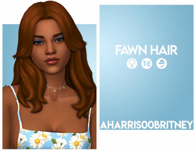 Sims 4 Fawn Hair at AHarris00Britney
