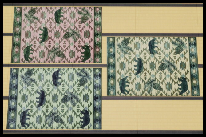 Sims 4 12 Northern Woodlands Rugs by Simmiller at Mod The Sims 4