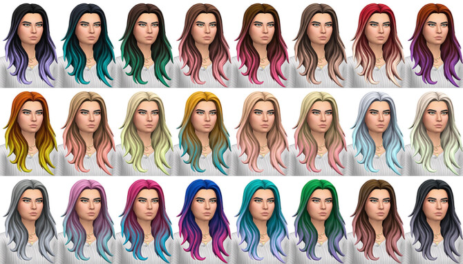 Sims 4 Fortnite Misc Hair Set 01 Conversion/Edit at Busted Pixels