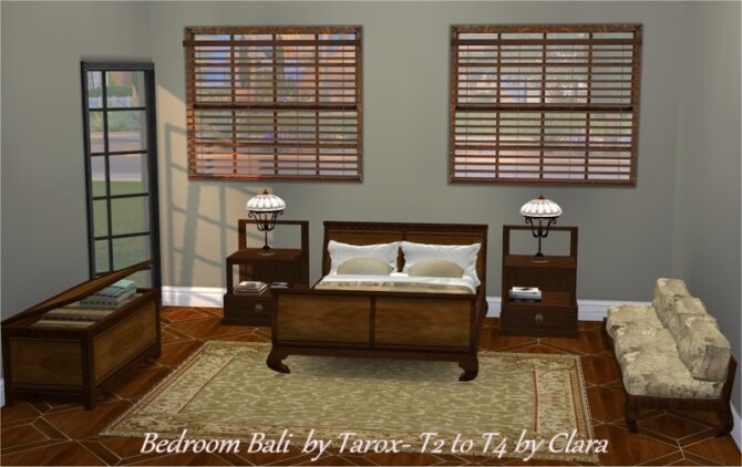 Sims 4 Bedroom Bali by Tarox TS2 to TS4 by Clara at All 4 Sims