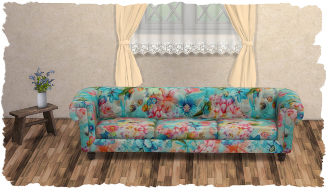 Sims 4 Country living sofa by Chalipo at All 4 Sims