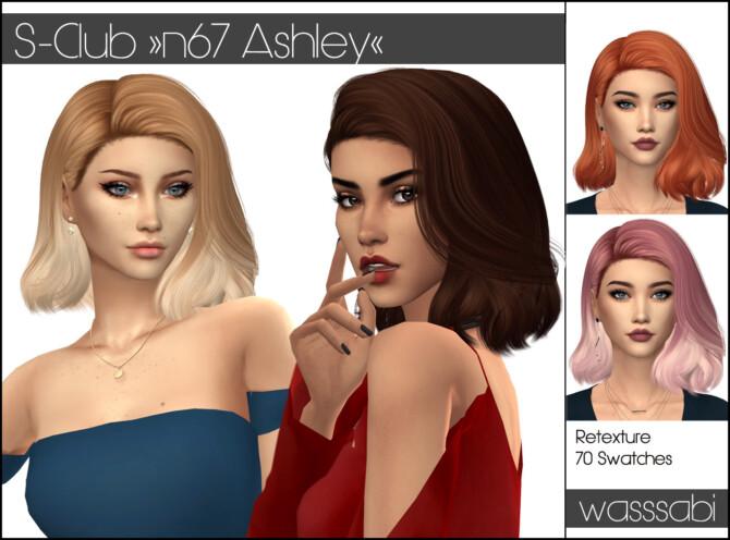 Sims 4 N67 S Club Ashley hair retextured at Wasssabi Sims