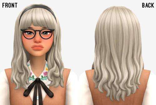 Sims 4 Miki hair at Marso Sims