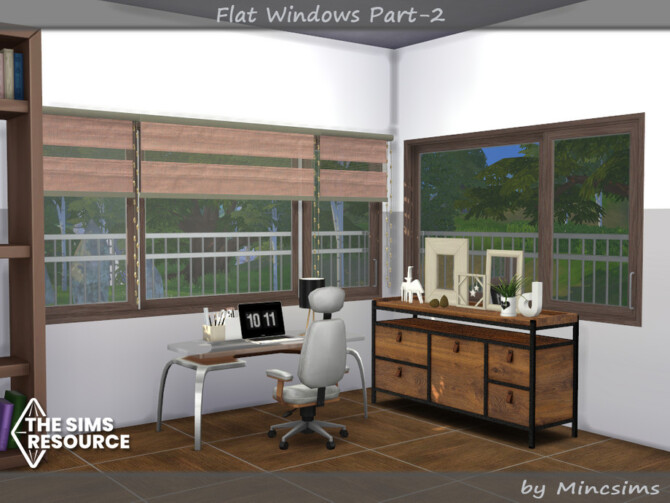 Sims 4 Flat Windows part.2 by Mincsims at TSR