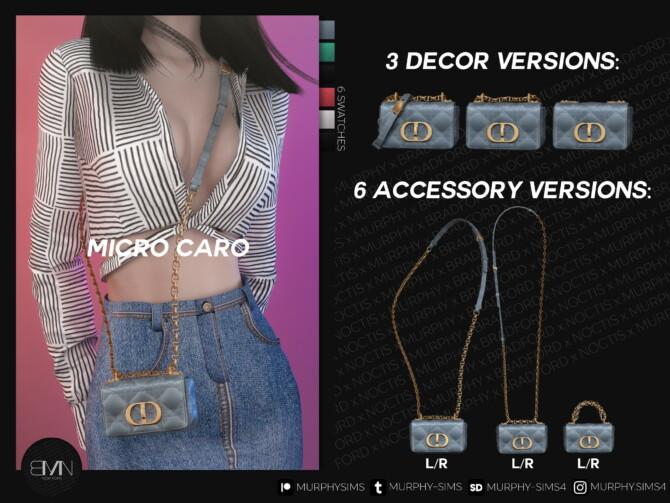 Sims 4 Micro Caro Bag at MURPHY