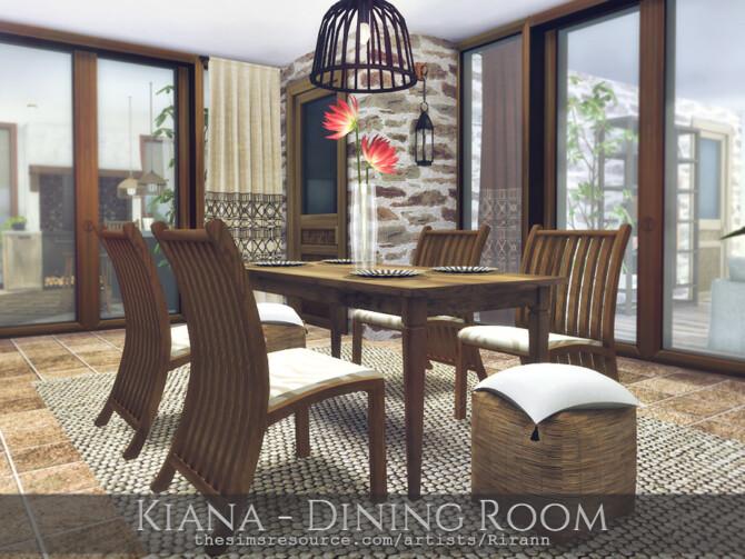 Sims 4 Kiana Dining Room by Rirann at TSR
