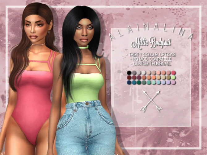 Sims 4 Millie Bodysuit at AlainaLina