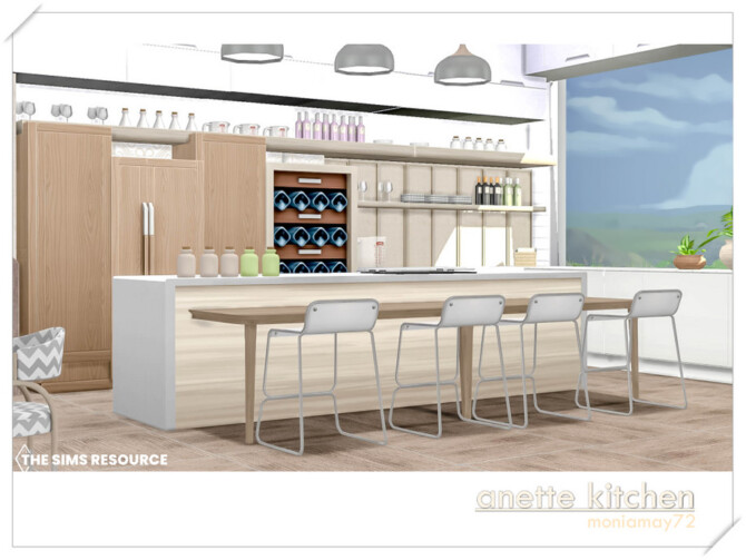 Sims 4 Anette Kitchen by Moniamay72 at TSR