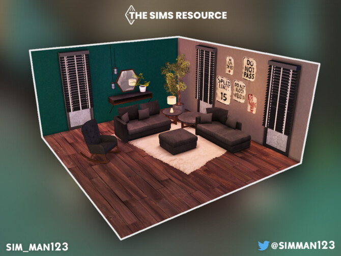 Sims 4 Hedwyn Living Room Part 2 by sim man123 at TSR