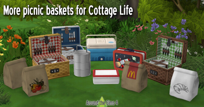 Alternative Picnic Baskets At Around The Sims 4