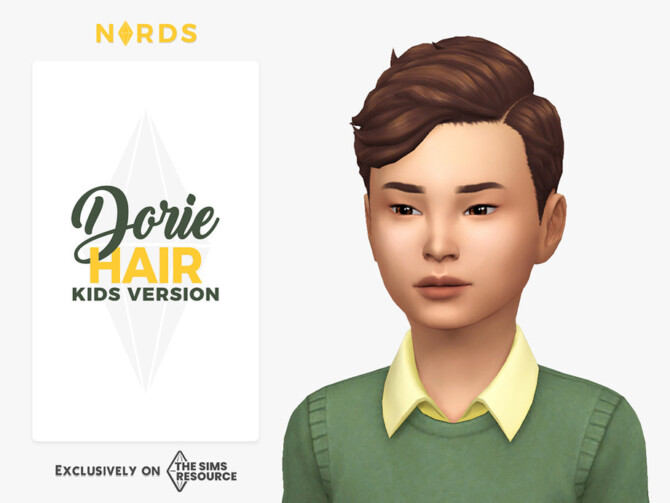 Sims 4 Dorie Hair for Kids by Nords at TSR