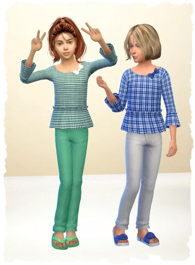 Sims 4 Land Shirt Girls by Chalipo at All 4 Sims