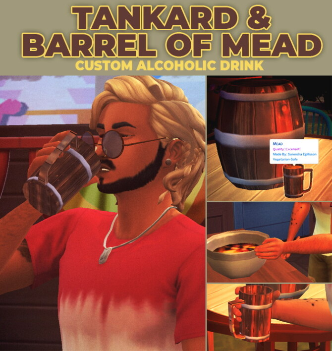 Sims 4 Mead Custom Recipe by RobinKLocksley at Mod The Sims 4