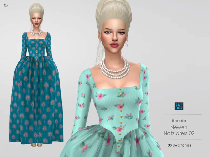 Sims 4 Newen Natz Dress 02 RC at Elfdor Sims