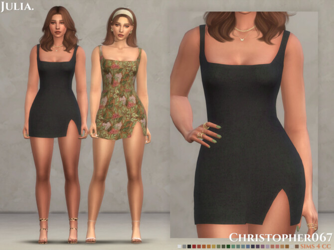 Sims 4 Julia Dress by Christopher067 at TSR