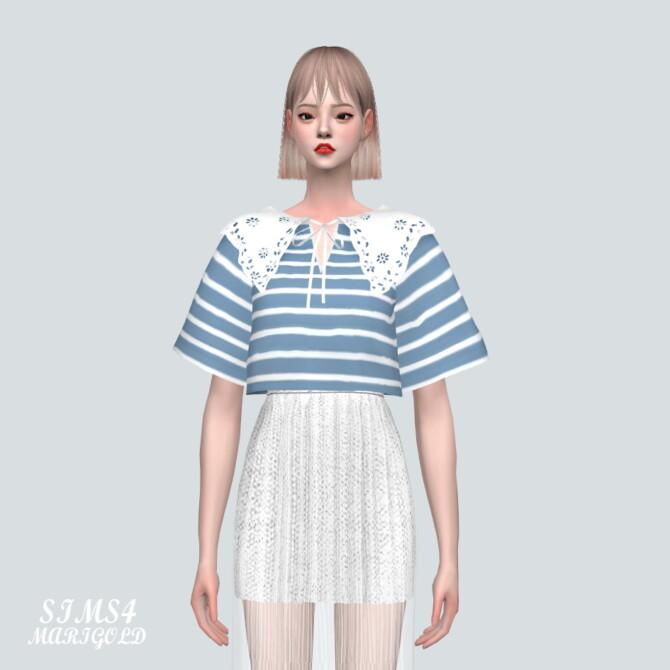 Sims 4 Punching Lace BC Sailor Top at Marigold