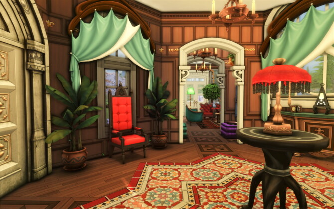 Sims 4 Eaton Quarry small lot mansion at Qube Design
