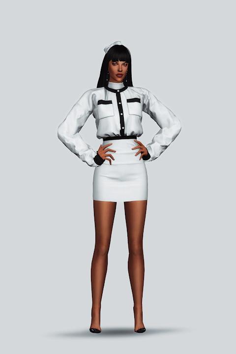 Sims 4 Lined Cardigan Dress at Gorilla