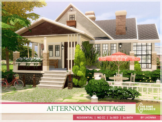 Sims 4 Afternoon Cottage by Lhonna at TSR
