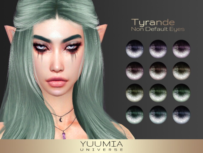 Sims 4 Tyrande Non Default Eyes at Yuumia Universe CC