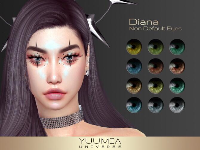 Sims 4 Diana Non Default Eyes at Yuumia Universe CC