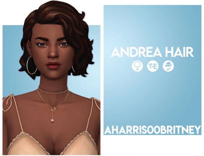 Sims 4 Andrea Hair at AHarris00Britney
