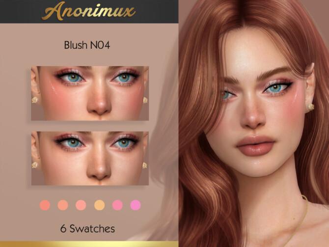 Sims 4 Blush N04 by Anonimux Simmer at TSR