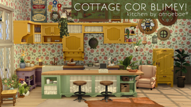 Sims 4 COTTAGE COR BLIMEY! Kitchen in Image Spectra at Picture Amoebae