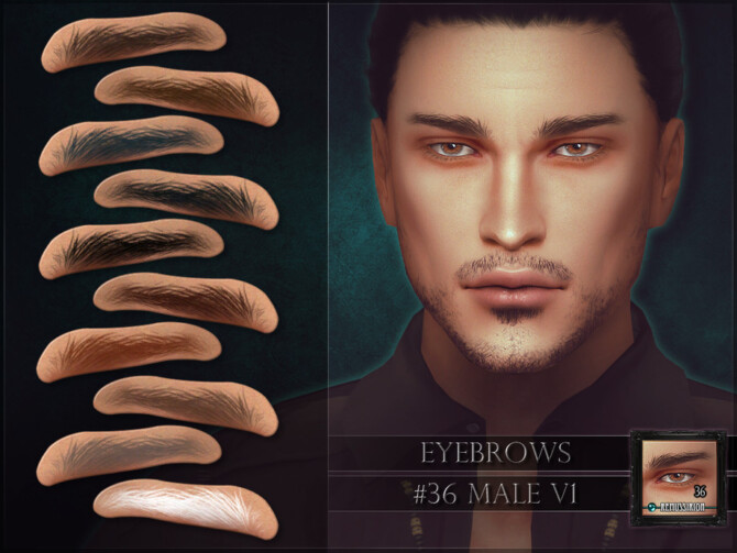 Sims 4 Eyebrows 36 male V1 by RemusSirion at TSR