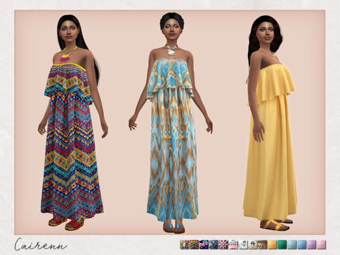 Sims 4 Bohemian Wedding Cairenn Dress by Sifix at TSR