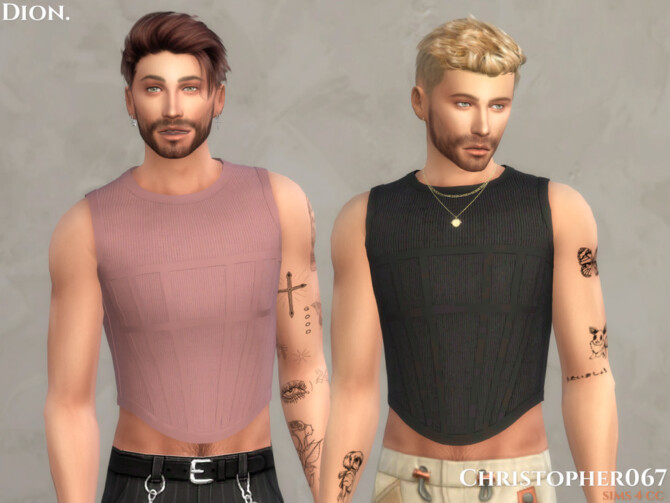 Sims 4 Dion Top by Christopher067 at TSR