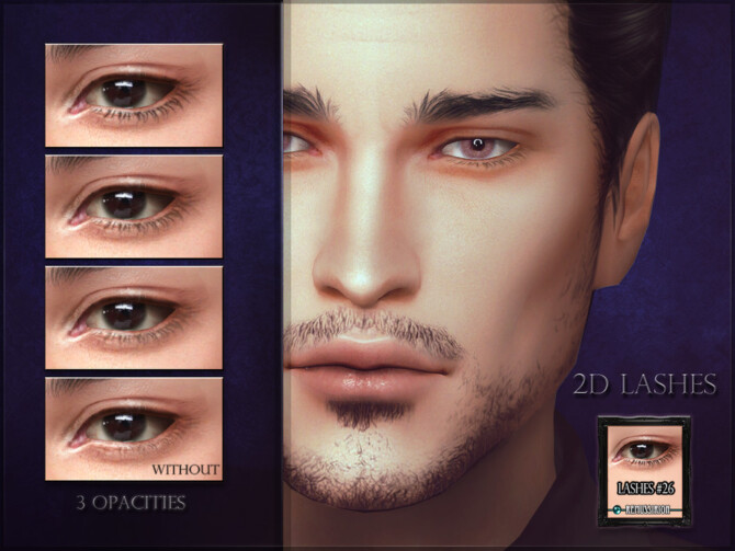 Sims 4 2D Lashes   Eyeliner #26 (all genders) by RemusSirion at TSR