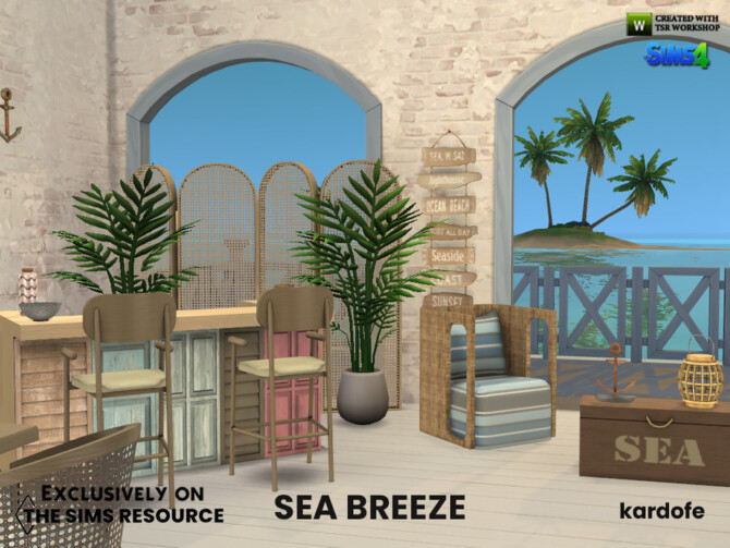 Sims 4 Sea breeze dining room by kardofe at TSR