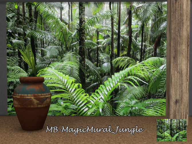 Sims 4 MB Magic Mural Jungle by matomibotaki at TSR