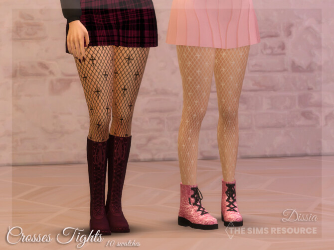 Sims 4 Crosses Tights by Dissia at TSR